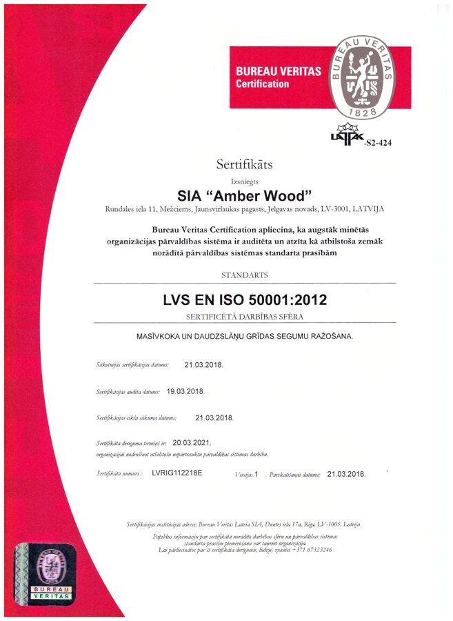 Energopārvaldības sistēmas sertifikāts